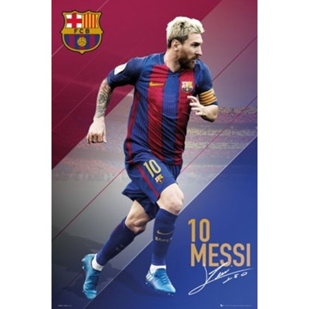 Lionel Messi Fc Barcelona 16 17 Soccer Sports Poster 24X36 Inch