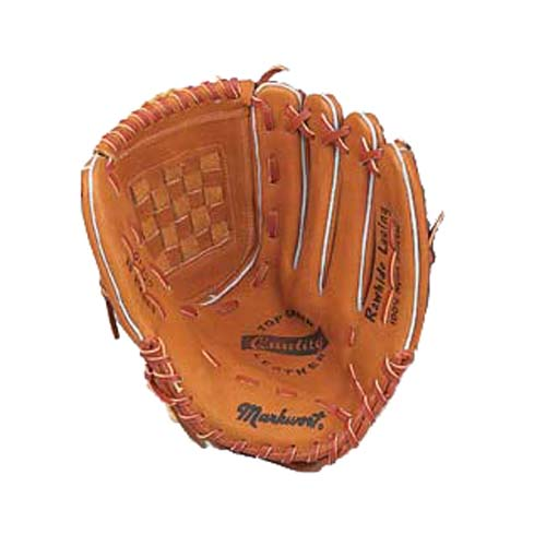 "13"" Tan Double Back Softball Glove from Markwort - (Worn on Left Hand)"
