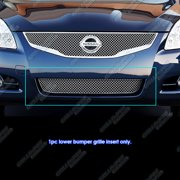 Compatible with 2010-2012 Altima Sedan Lower Bumper X Mesh Grille Insert NX6751S