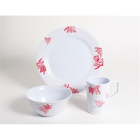 Galleyware 1091-S 12 Decorated Melamine Non-skid 12 Piece Dinnerware Gift (Non Skid Dinnerware)
