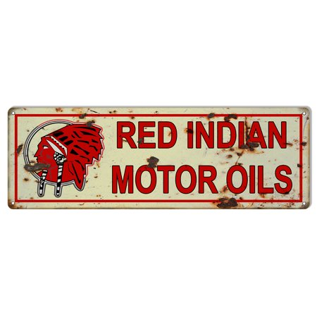 - Reproduction Red Indian Motor Oils Sign. 6