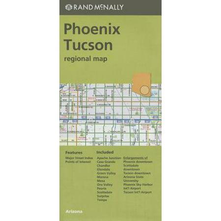 Folded Map Phoenix/Tucson & Vic AZ Regional