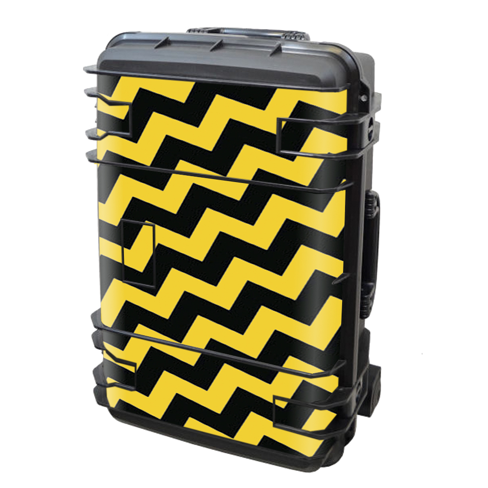 Skin Decal Vinyl Wrap for Seahorse SE-920 Case stickers skins cover / Yellow and Black Chevron