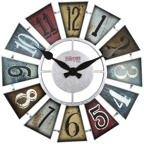 FirsTime Numeral Windmill 24 in. Wall Clock