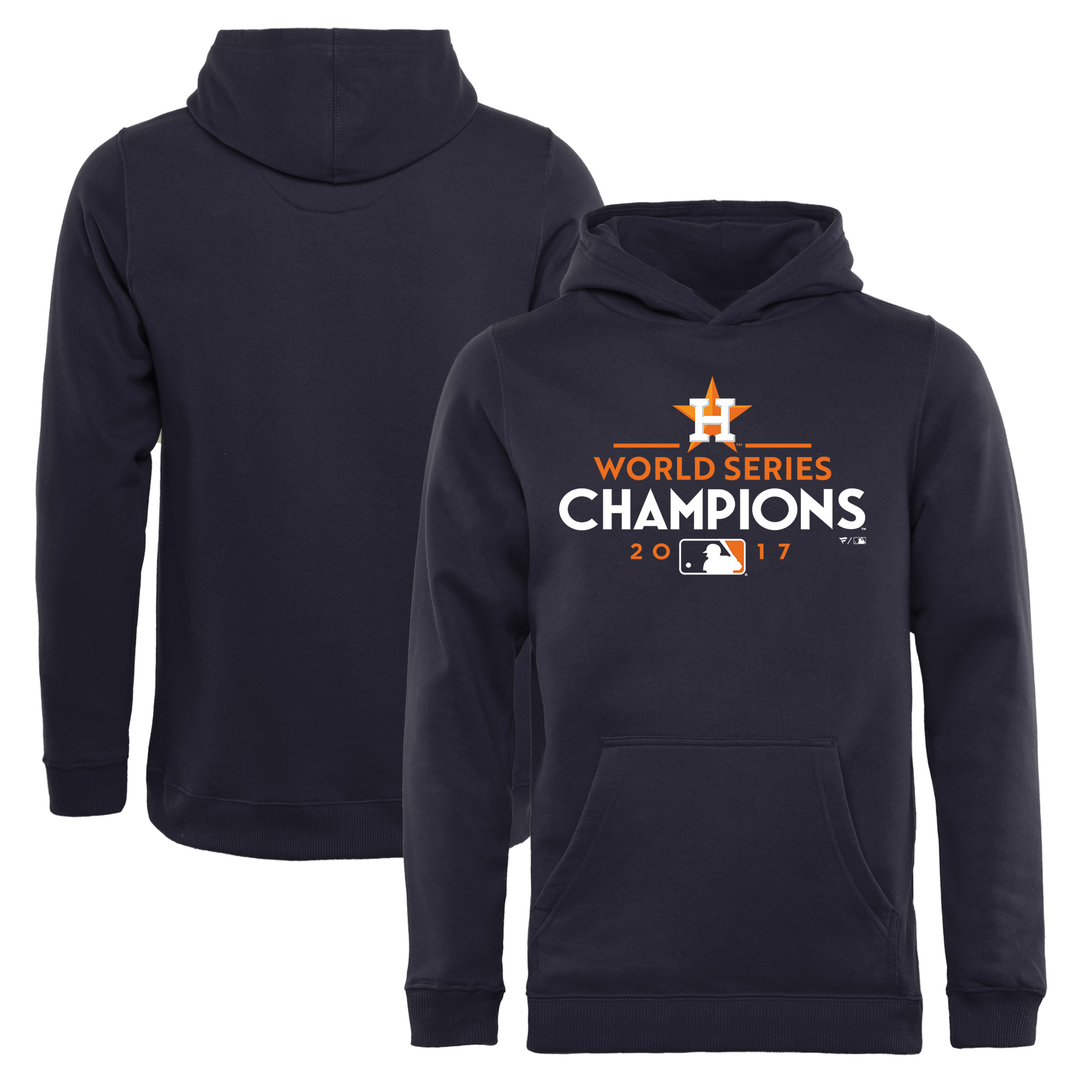 Youth Fanatics Branded Navy Houston Astros 2017 World Series Champions Pullover Hoodie