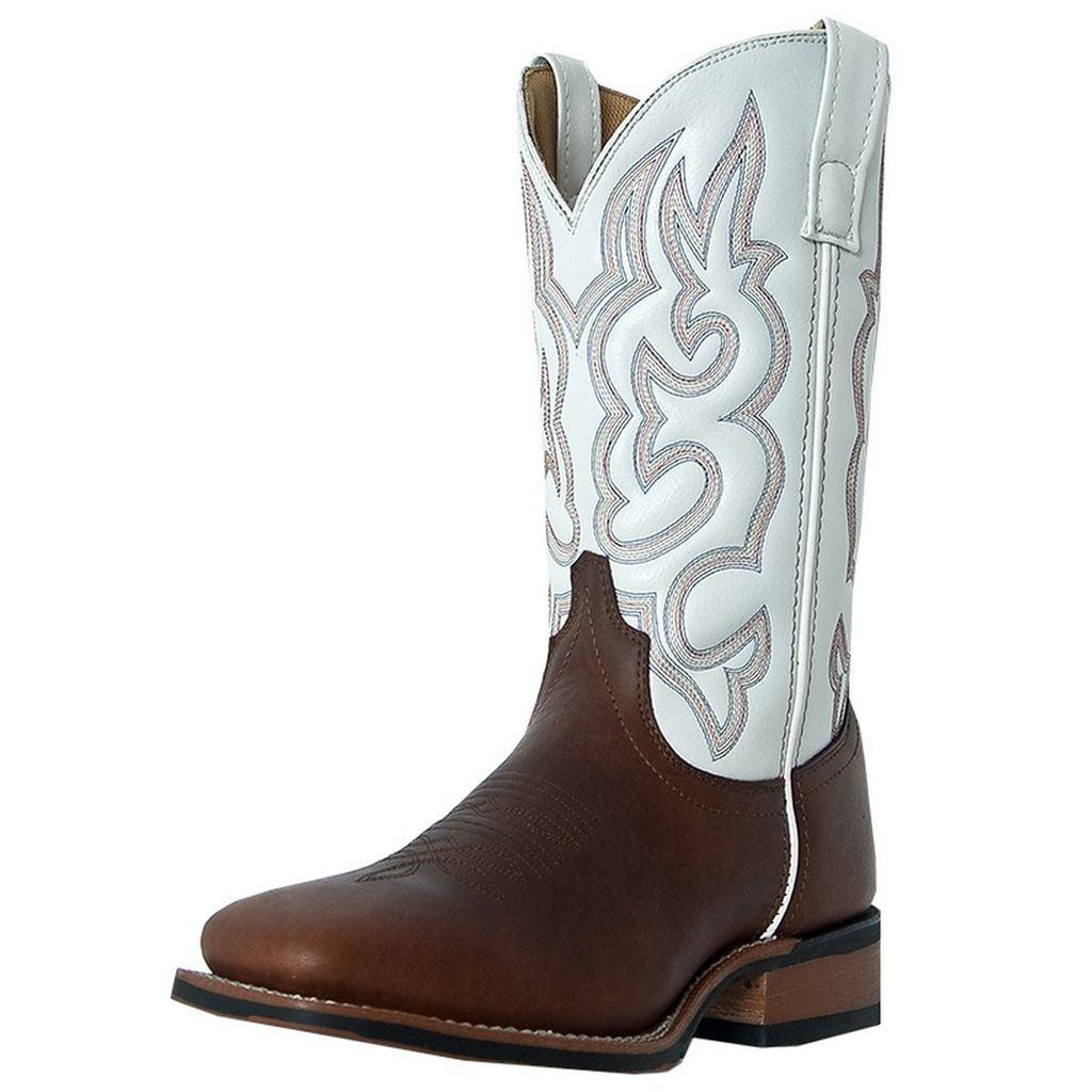 Laredo 7891 Men's Redwood and White Lodi Western Boots by Laredo