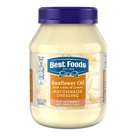 (2 Pack) Best Foods Mayonnaise Dressing Sunflower Oil with a hint of Lemon 24