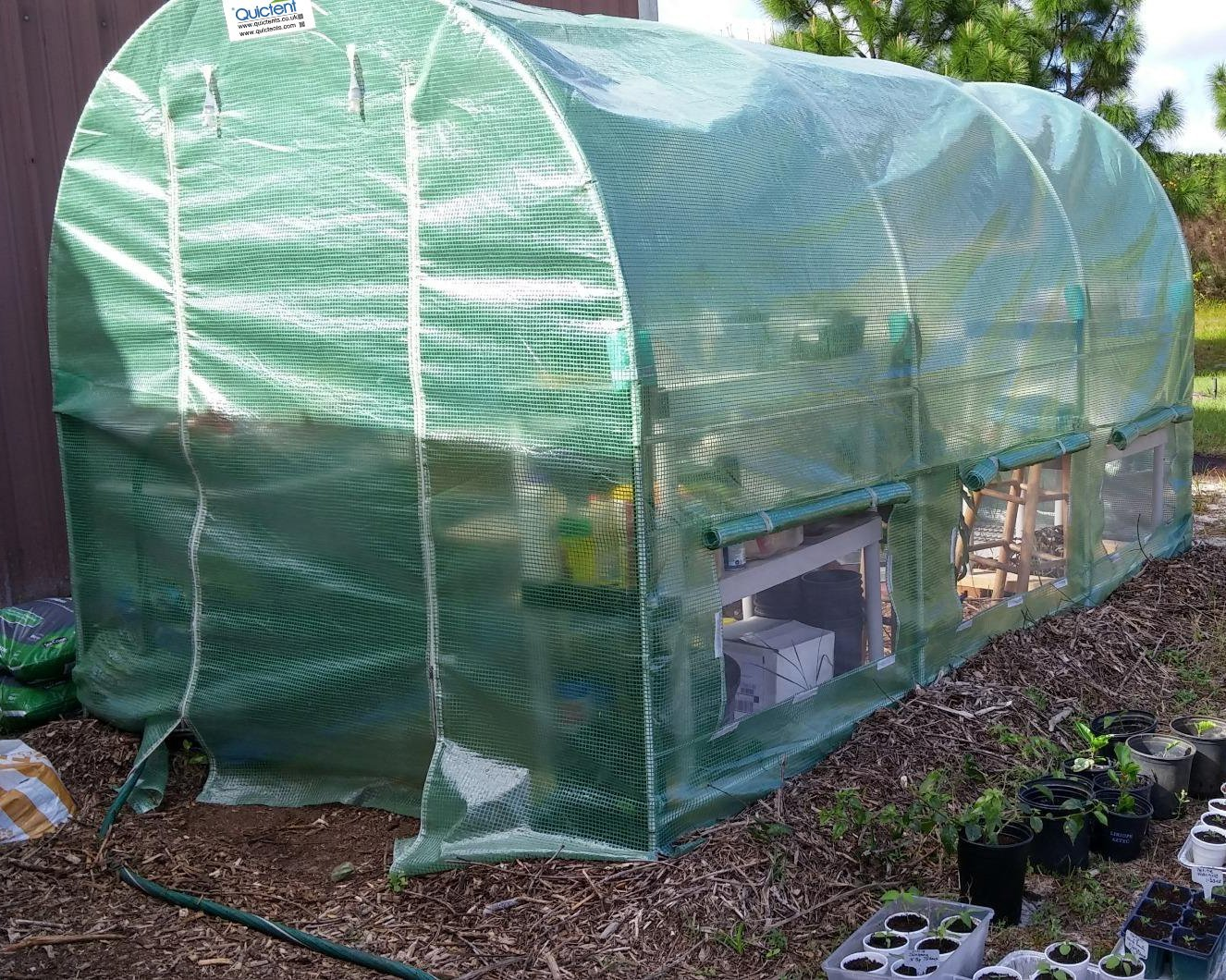 Quictent KOREA Reinforced PE Cover Greenhouse 15'x7'x7' Arch LARGE Walk in Green Garden... by