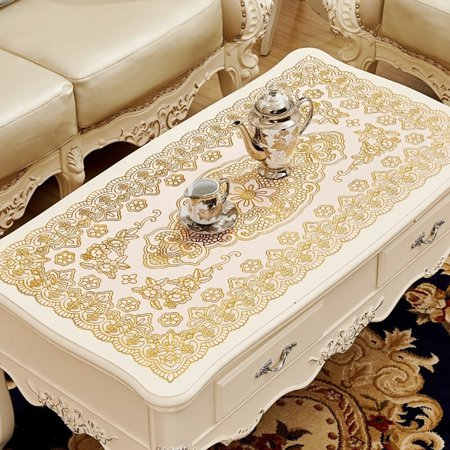 Simple Waterproof Rectangular Hollowing Anti-scald Table Cover - image 8 de 8