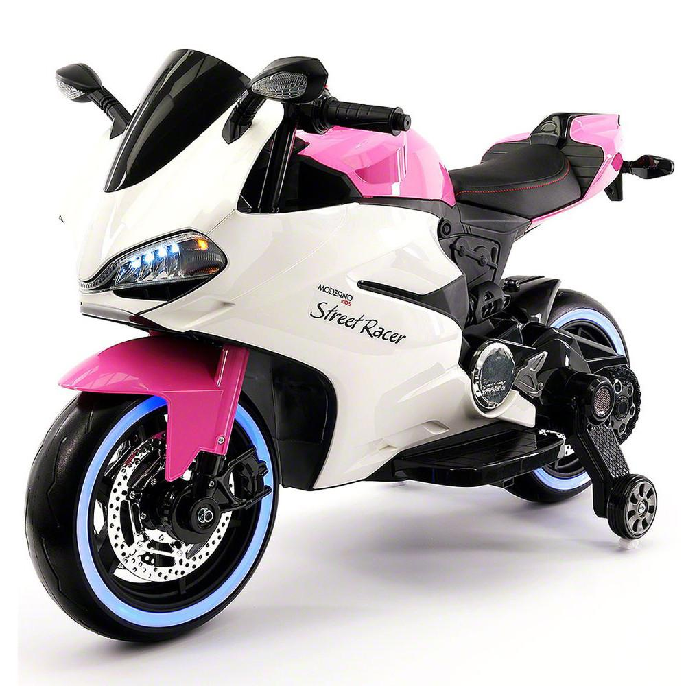 2017 Ducati Style Ride On Toy Motorcycle Car for Kids 12V Battery Powered Pink by Wheels N Kids