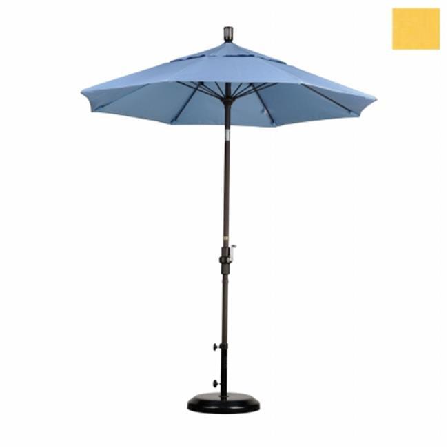 California Umbrella GSCUF758117-5435 7. 5 ft.  Fiberglass Market Umbrella Collar Tilt - Bronze-Sunbrella-Cornsilk