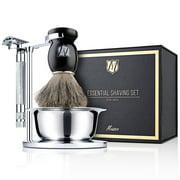 Best Omega Badger Shaving Brushes - Miusco Men's Shaving Gift Sets of 5, Sterilized Review
