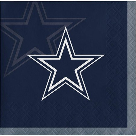 Creative Converting Dallas Cowboys Beverage Napkins, 16 -