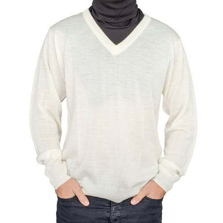 Costume Crazy Online (Crazy Cousin White V-Neck Sweater with Black Dickey Halloween Cosplay)