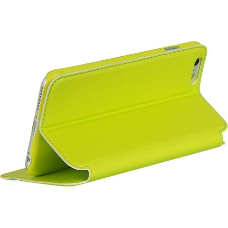 Leather Stand - Insten Business- Style Pouch Leather Wallet Credit Card Stand Case Cover For Apple iPhone 6s Plus / 6 Plus - Green/Blue