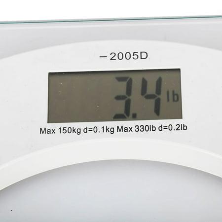 Ktaxon New Digital LCD Glass Electronic Weight Body Bathroom Health Scale 330lb - image 2 de 5