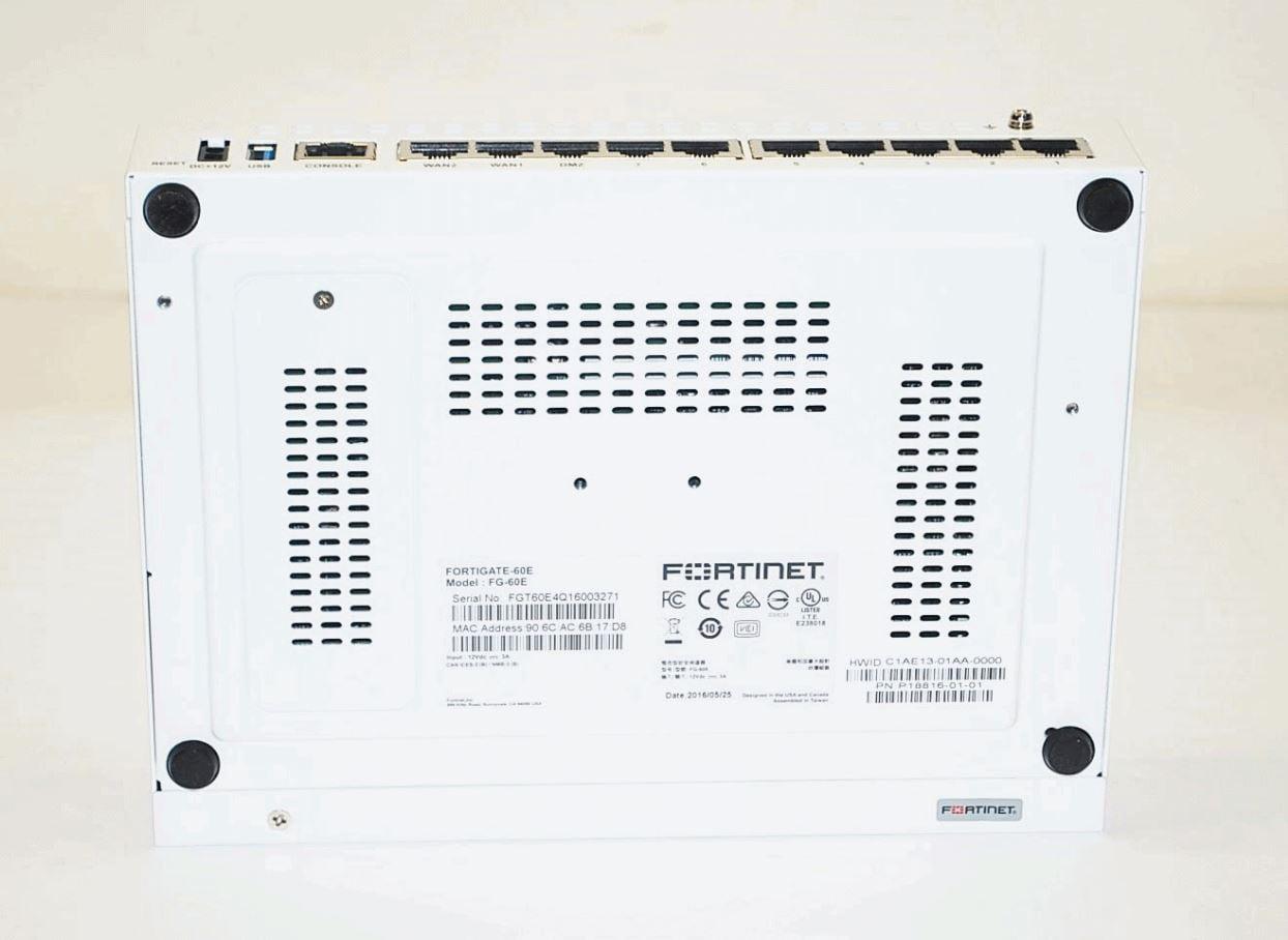 Fortinet FortiGate 60E - UTM Bundle - security appliance FG-60E-BDL -  Refurbished
