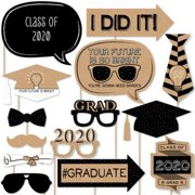 Bright Future - 2020 Graduation Photo Booth Props Kit - 20 Count