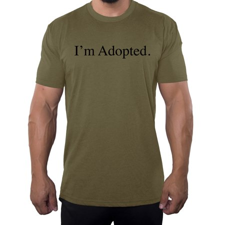 619a2b57244da I'm adopted -Family Reunion Men's T-shirts - Olive Drab MH200FAM S65 L
