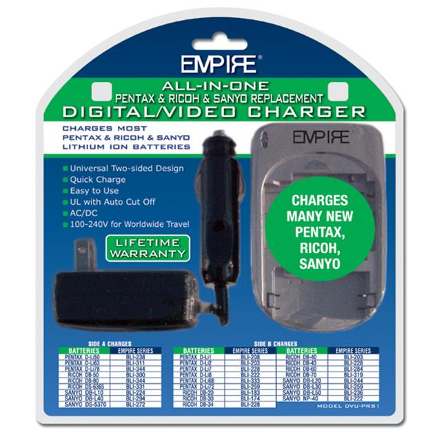 Empire DVU-PRS1 R1 AC & DC Universal Charger for Pentax & Ricoh & Sanyo