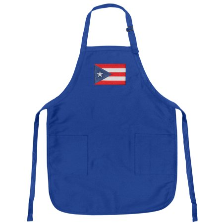 Puerto Rico Flag Apron Mens or Womens for Grilling Barbecue Kitchen Tailgating Puerto Rico Aprons Famous Broad Bay Quality ()
