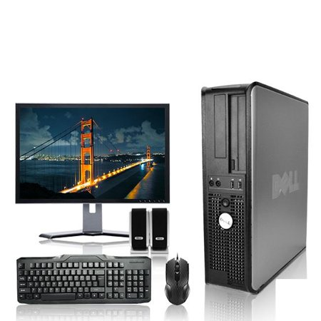 Refurbished - Dell Optiplex Desktop Computer 3.3 GHz Core 2 Duo Tower PC, 4GB, 250GB HDD, Windows 10 Home x64, 17