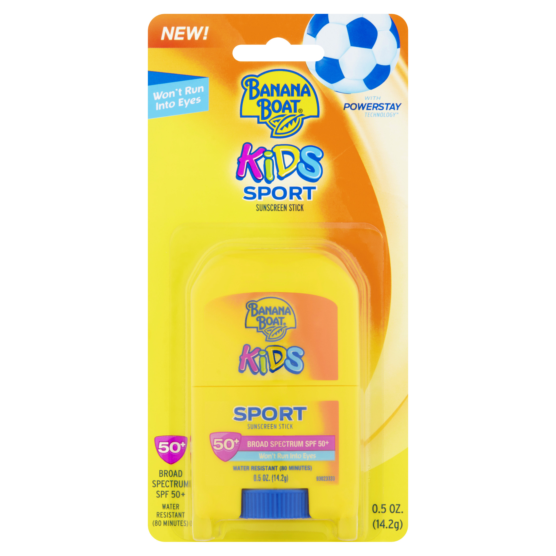 Banana Boat Kids Sport Broad Spectrum Sunscreen Stick SPF 50+ 0.5 oz