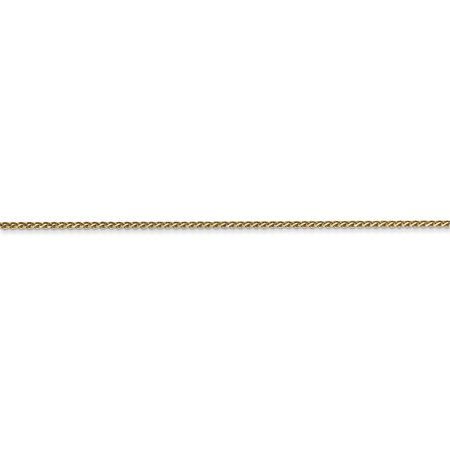 14k Yellow Gold 1mm Solid Spiga Chain Anklet Ankle Beach Bracelet 10 Inch : Fine Jewelry For Women Valentines Day Gifts For Her - image 3 de 8