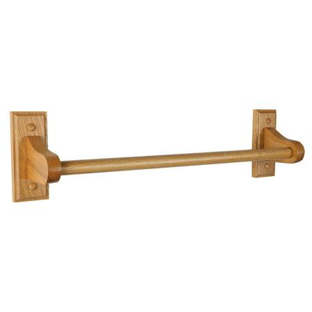 Design House 561175 Dalton 24-Inch Towel Bar, Honey Oak