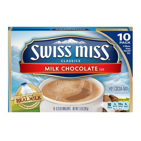 Swiss Miss Classics Milk Chocolate Hot Cocoa Mix 10 Count 7.3 oz