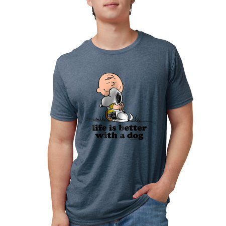 CafePress - Charlie Brown And Snoopy Mens Tri Blend T Shirt - Mens Tri-blend T-Shirt Blend Mens T-shirt