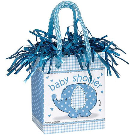 (5 Pack) Elephant Baby Shower Balloon Weight, 3 in, Blue, 1ct - Football Balloon Weights