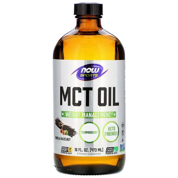 Now Foods Sports, MCT Oil, Vanilla Hazelnut, 16 fl oz (473 ml)