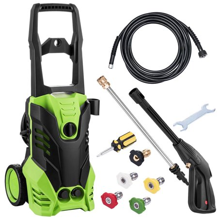 Hifashion 2200PSI Max3000PSI Electric Pressure Washer 1800W Rolling Wheels High Pressure Professional Washer Cleaner Machine with 5 Quick-Connect Spray Tips