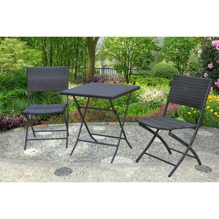 mainstays haynes 3 piece folding bistro set. Black Bedroom Furniture Sets. Home Design Ideas