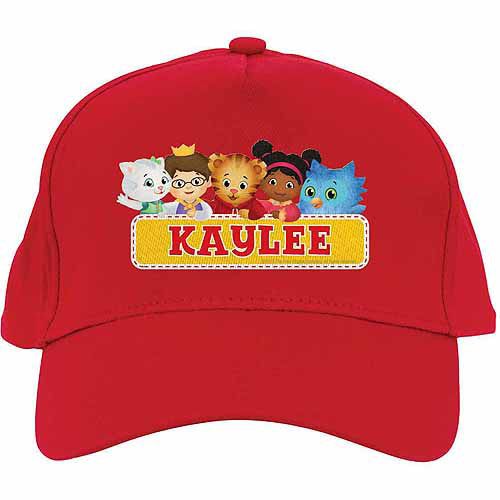 Personalized Daniel Tiger's Neighborhood Group Red Baseball Hat