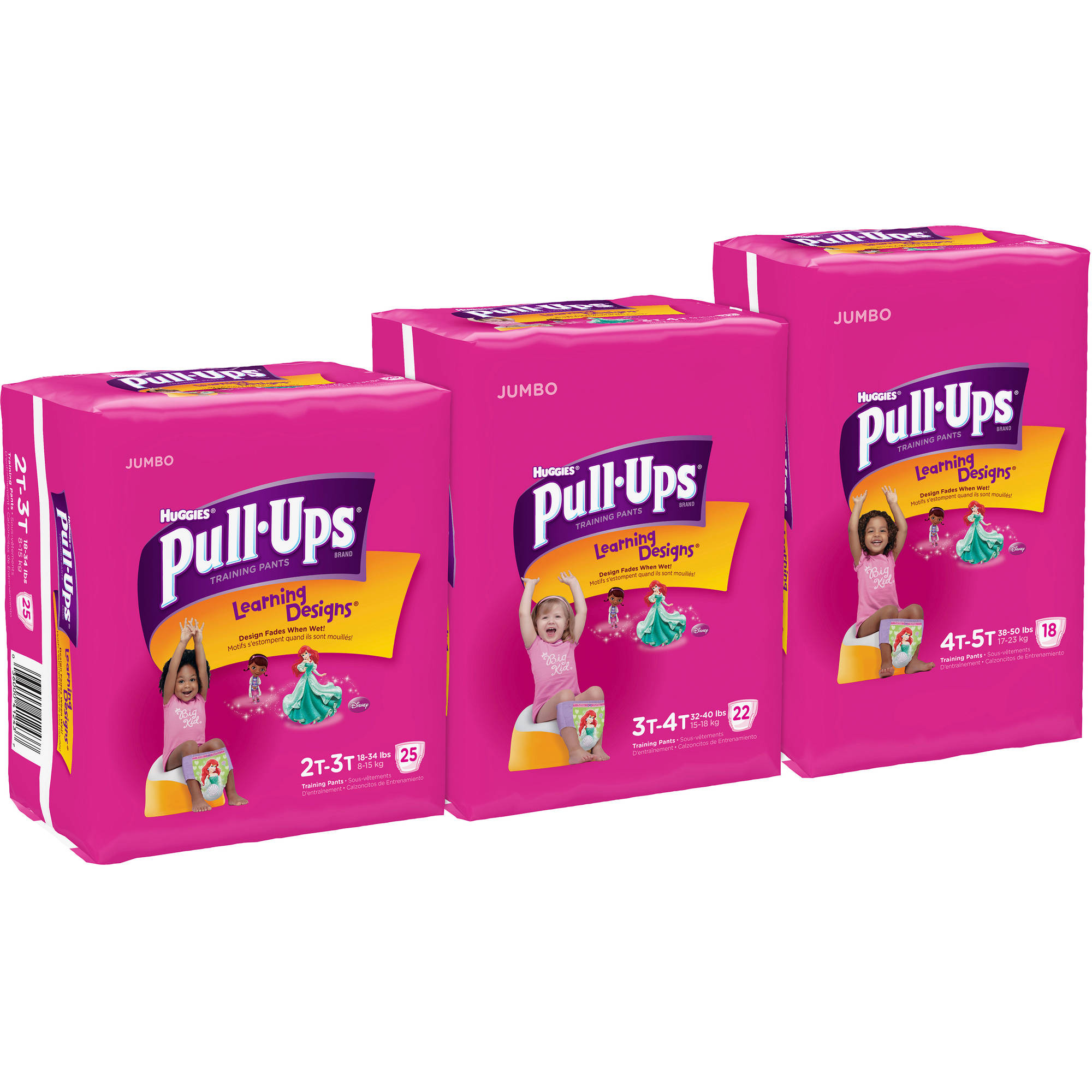 Pull-Ups? Training Pants with Learning Designs? for Girls 2T-3T