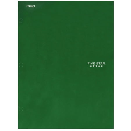 Flexi View 2 Pocket Folders - 2 Pack - Mead Five Star 4 Pocket Paper Folder, Color May Vary 1 ea