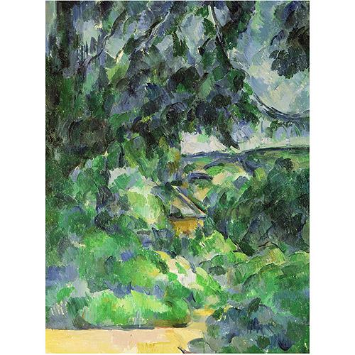 """Trademark Fine Art """"Blue Landscape 1903"""" Canvas Art by Paul Cezanne"""