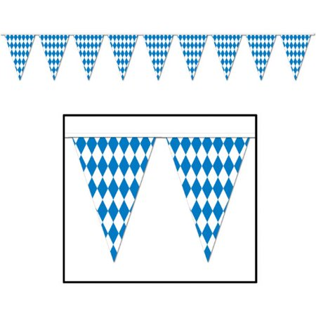 Oktoberfest Decorations Cheap (Beistle 57774 Oktoberfest Pennant Banner, 17 by)