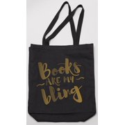 Books Are My Bling Tote (Black) (Other)