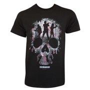 Walking Dead Men's Black Skull Logo T-Shirt-Medium