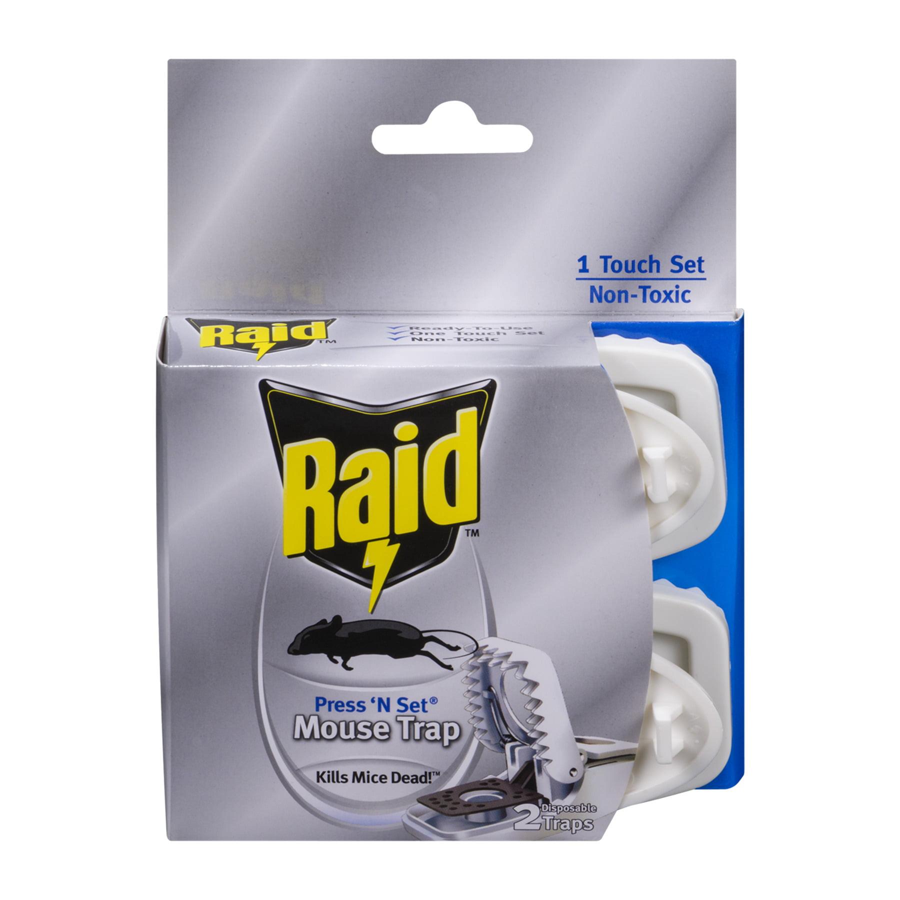 Raid Mouse Trap Press 'N Set Disposable - 2 CT2.0 CT