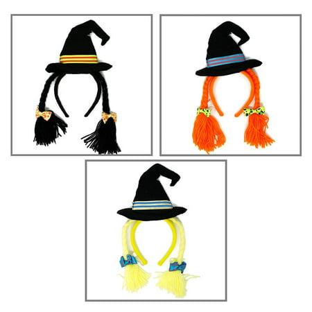Witch Hat Headband with Braids