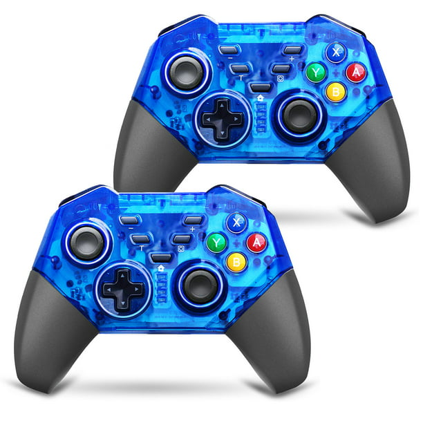 Tsv 2 1 Pcs Wireless Pro Controller For Nintendo Switch Pro Remote Gaming Controller Gamepad With Ajustable Shock Function Switch Controller Remote Blue Walmart Com Walmart Com