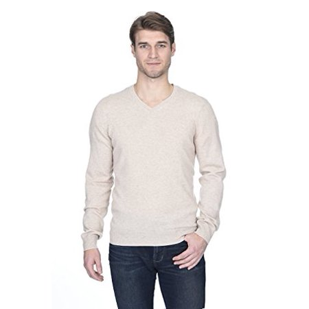 State Fusio Men's Cashmere Wool Long Sleeve Pullover V Neck - Mens V-neck Wool Sweater