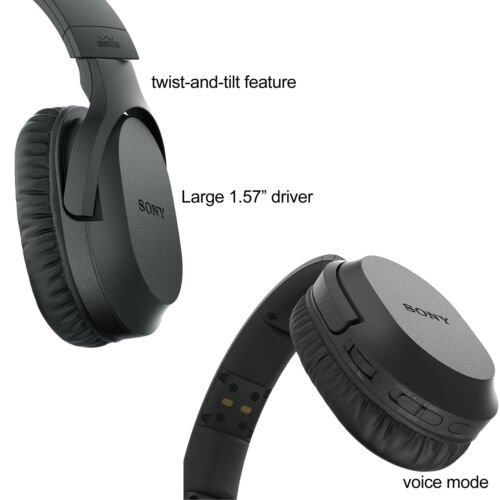 259e73c53d6 Sony TV Wireless Over-Ear Noise Reduction Comfortable Wireless Headphones  (WHRF400R) with Transmitter Dock (TMRRF400) + Sony Rechargeable Battery +  ...