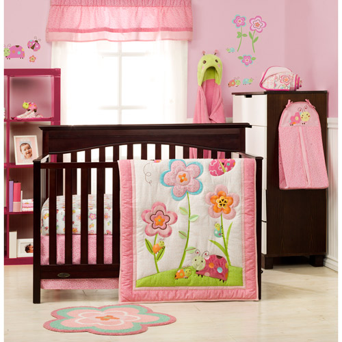 Graco Sweet Ladybug 3-Piece Crib Bedding Set