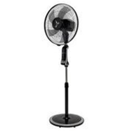 Deco Breeze DBF2938 Floor Standing Fan with BreezeTech Remote Control - Black & Silver