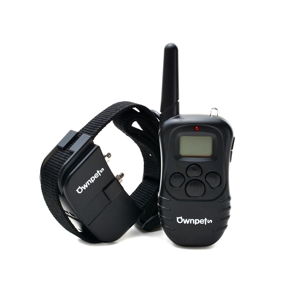 Ownpets 330 Yard Dog Training Collar Remote with 4 Modes Static Shock Vibration Beep Light